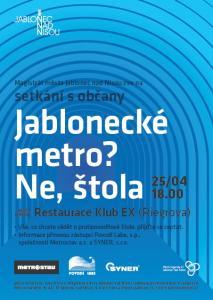Setkání s občany - štola (plakát)