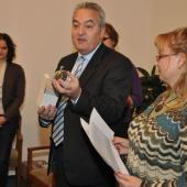 Petr Tulpa rozdával dobrovolníkům skleněná jablka, autor: Radka Baloghová