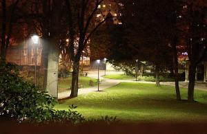 Osvětlený Tyršův park, autor: Petr Vitvar