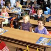Prvňáci ve třídě, autor: Michal Vele