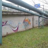 Zeď podél Harrachovské ulice, autor: archiv MMJN