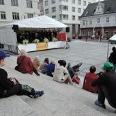 Mírové náměstí s pódiem, autor: Jana Fričová