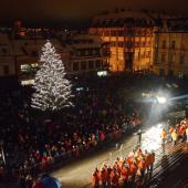 Rozsvícení vánočního stromu, autor: Václav Novotný