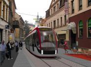 Vizualizace tramvajové tratě v Soukenné ulici, autor: archiv MMJN