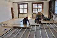 Práce na nové podlaze, autor: Petr Vitvar