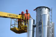 Komín Březová - (etapa 2015) měří 25,5 m a váží 8,5 t, autor: Jablonecká energetická, a. s.