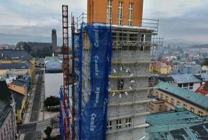 Věž radnice (říjen 2016), autor: Miroslav Gorčík