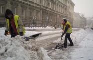 Úklid sněhu v Podhorské ulici, autor: Markéta Hozová