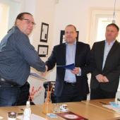 Podpis smlouvy o partnerství mezi Českou mincovnou a SKI klubem, autor: Markéta Hozová
