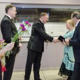 Představitelé města vítají hosty plesu, autor: Fotolab