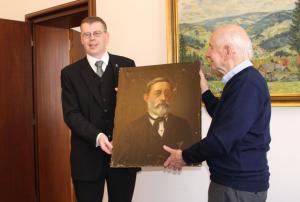 Ulrich Schwehn s obrazem Josefa Pfeiffera, autor: Markéta Hozová