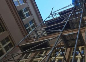 Lešení na radnici, autor: Markéta Hozová