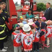 Děti z MŠ Adélka u hasičů, autor: Markéta Hozová