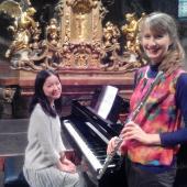 Flétnistka Julie Séquardtová a klavíristka Miho Fukuda, autor: Festival Město plné tónů